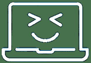 Logo Zen informatique Blanc sur fond transparent